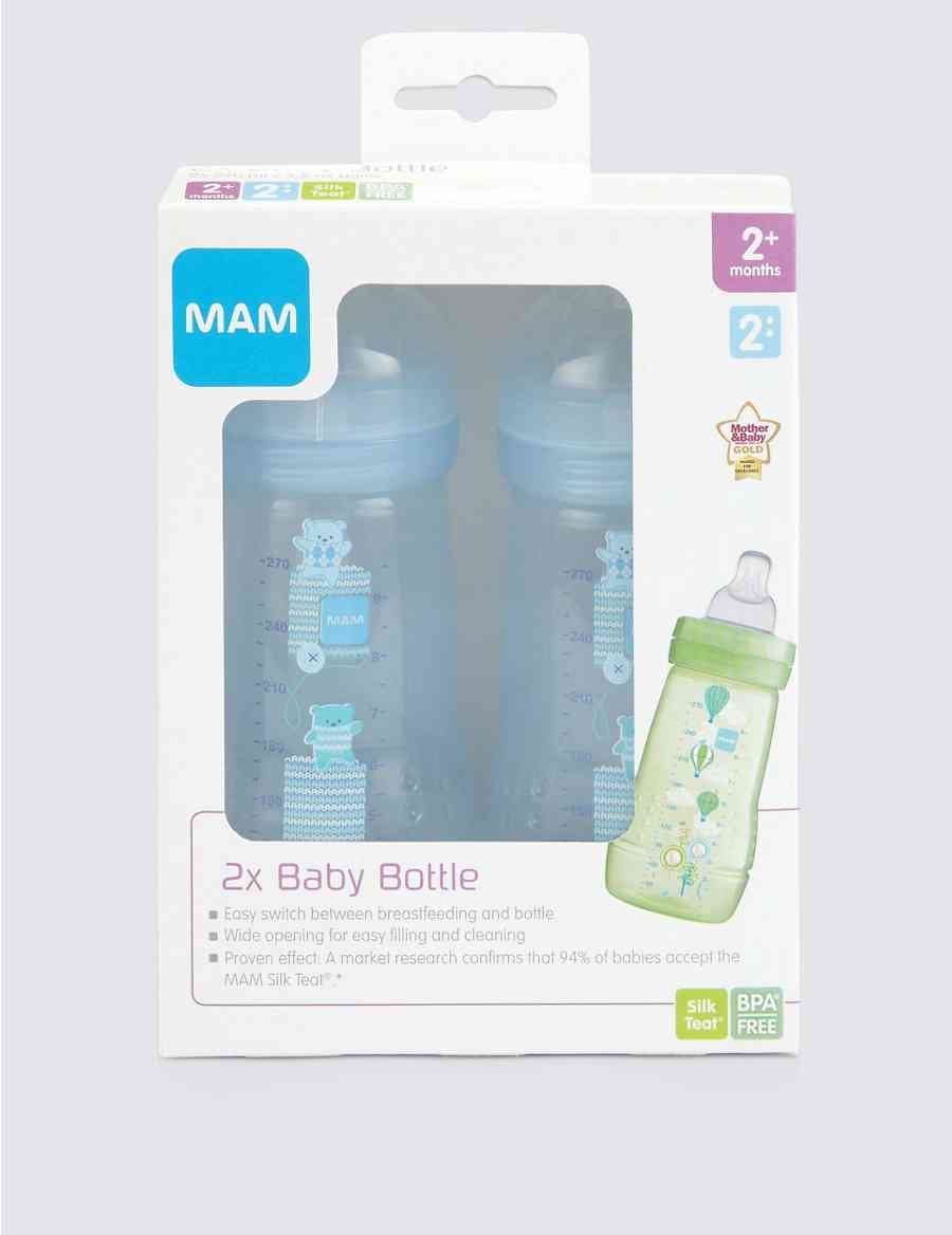 2 270ml Mam Bottles Ms Buy 1 Get Free Bottle Anti Colic Pink