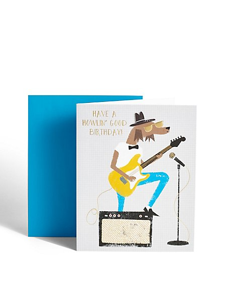 Howlin' Birthday Card