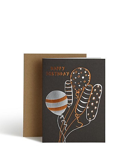 Celebration Balloon birthday Card
