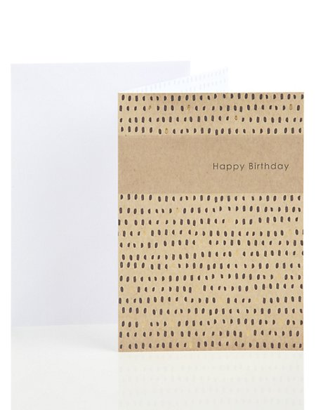 Animal Print Style Birthday Card