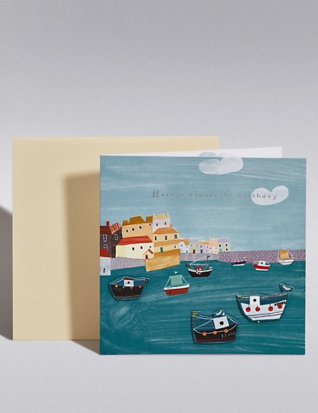 Harbour Scene Special Birthday Card