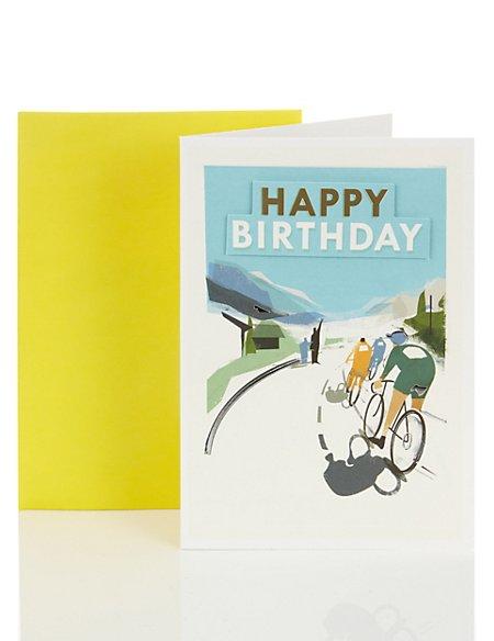 Cycling Birthday Card Ms