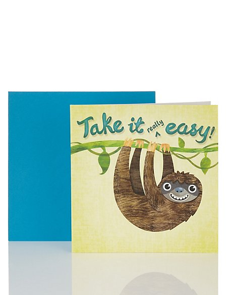 Sloth Take It Easy Card