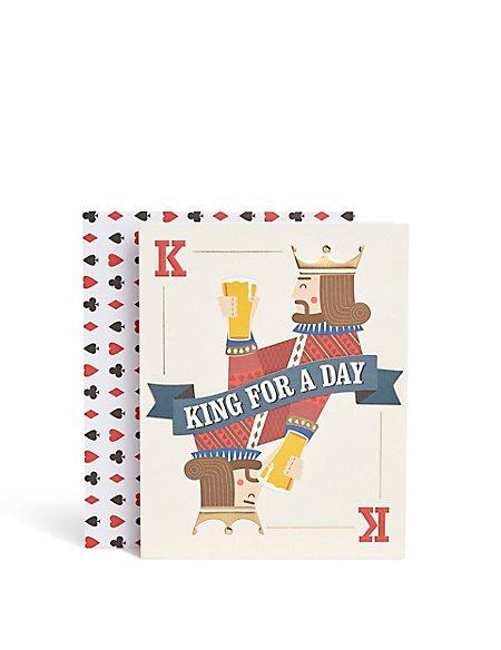 Casino King Birthday Card