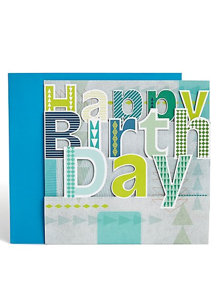 Pop Up Text Birthday Card