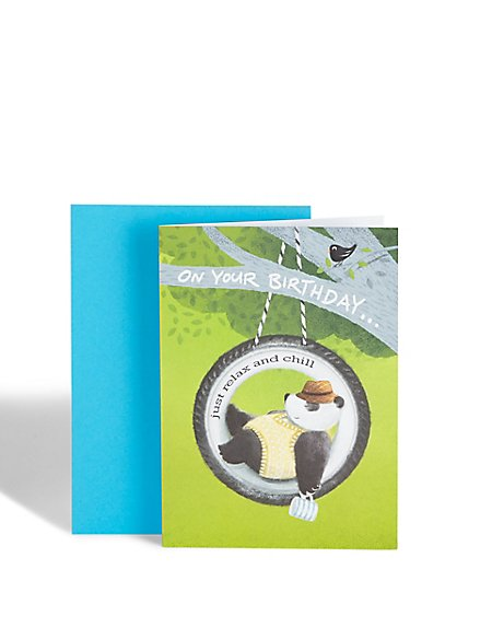 Relaxed Panda Birthday Card
