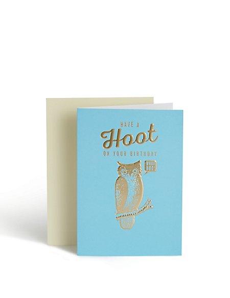 Have A Hoot Owl Birthday Card