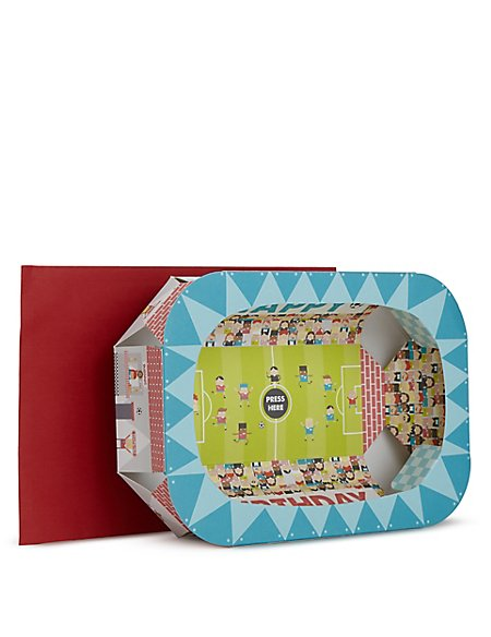 Football Stadium 3D Birthday Card