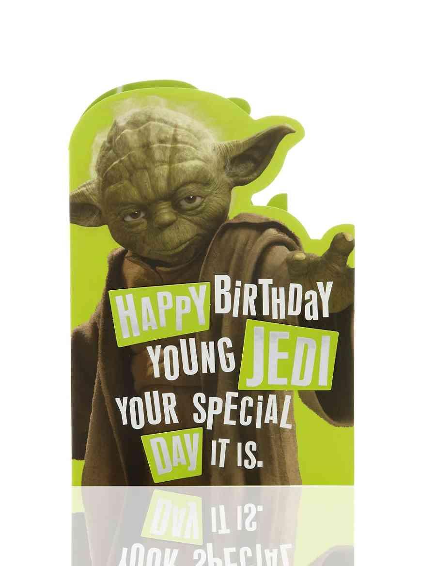 Star Wars Yoda Birthday Card M S