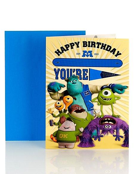 Monsters Inc Personalised Birthday Card Ms