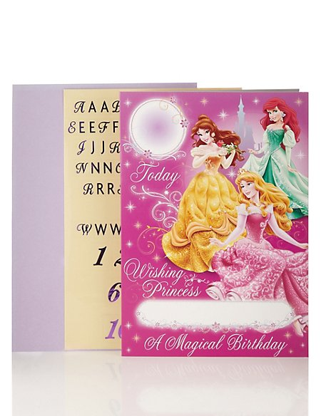 Product Images Skip Carousel Personalised Disney Princess Birthday Card