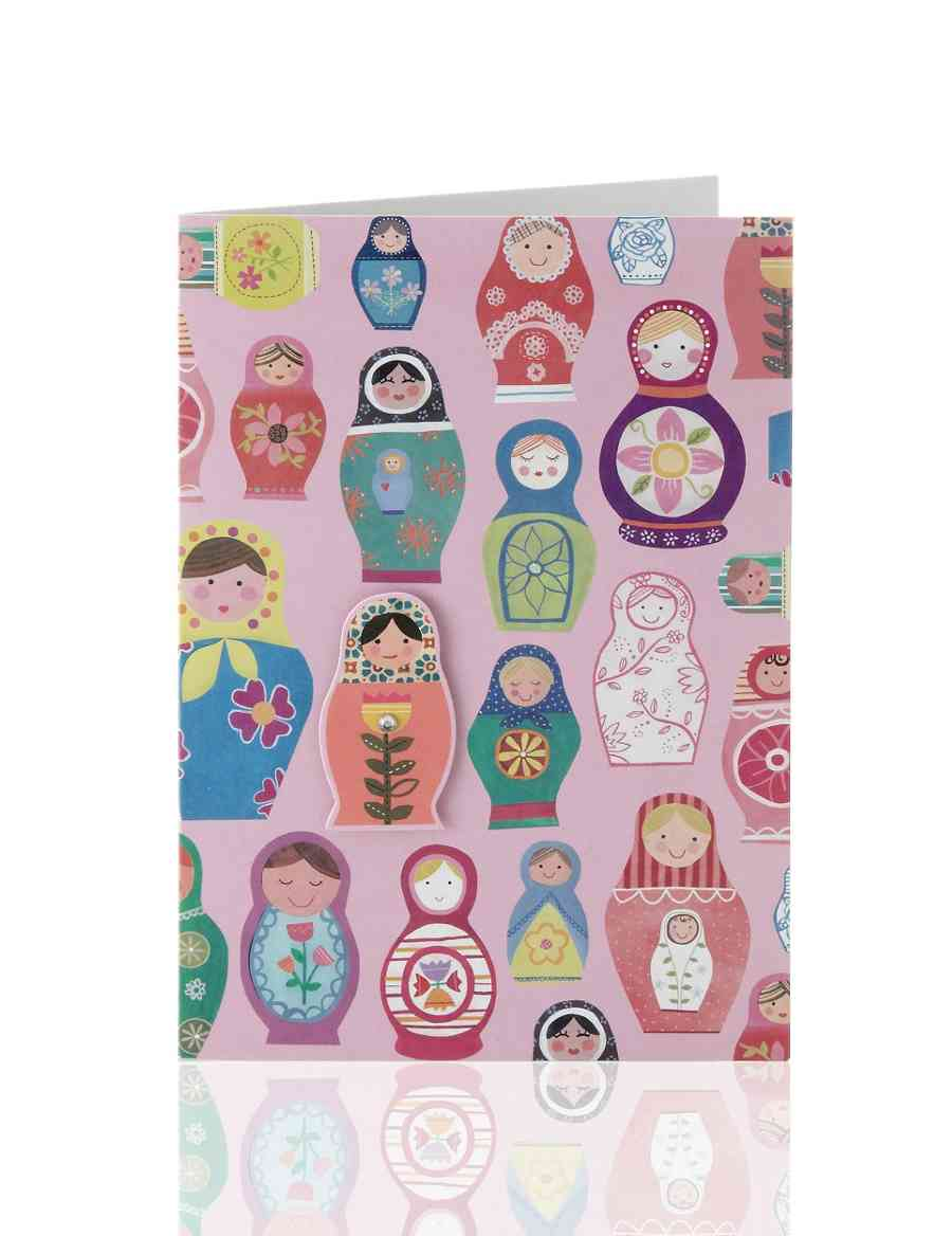 Russian Dolls Birthday Card