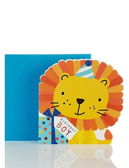 Birthday Boy Lion Card