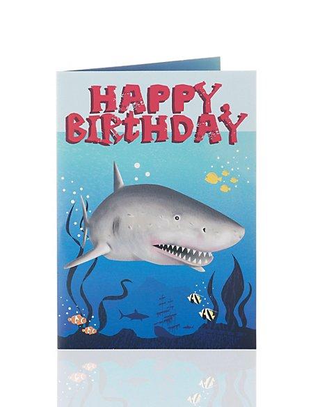 Shark Pop Out Birthday Card Ms