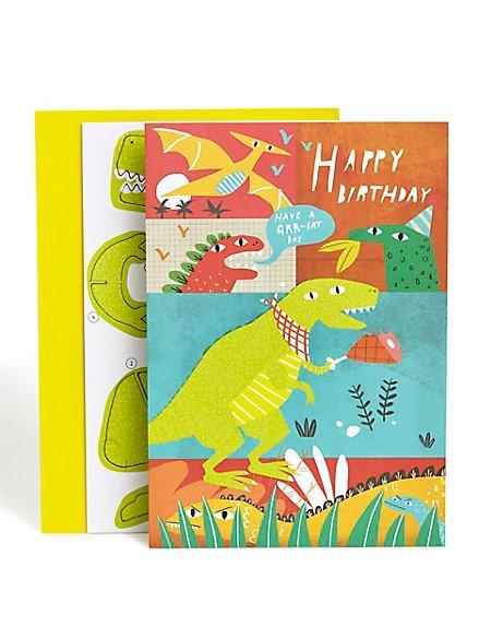 Build Your Own Dinosaur Birthday Card