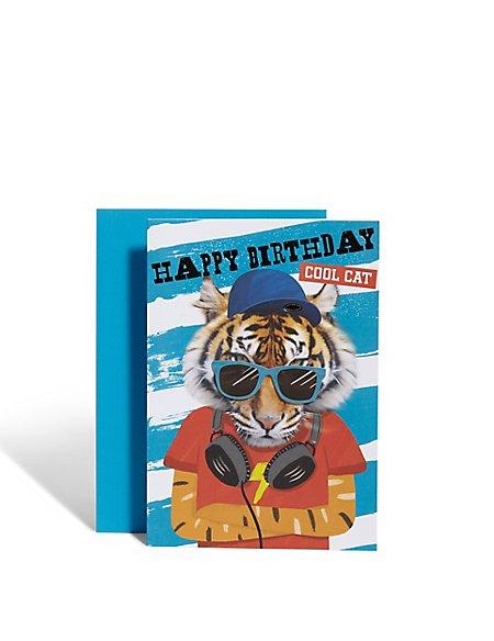 Tiger Birthday Card Ms