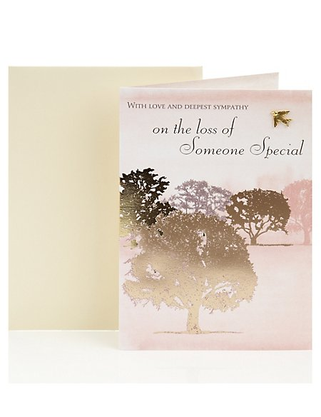 Foil Trees Sympathy Greetings Card