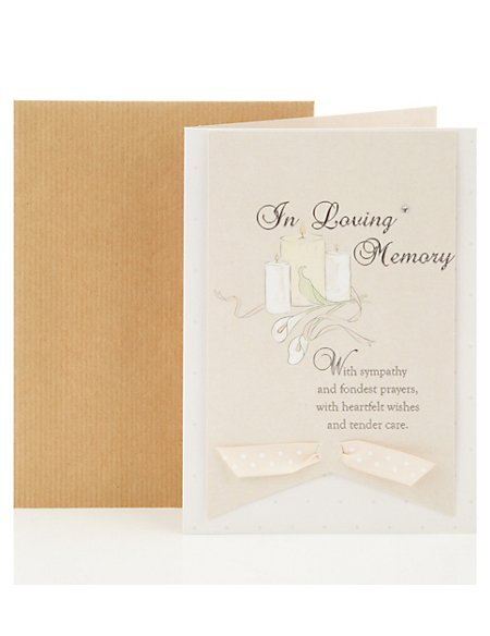 In Loving Memory Greetings Card