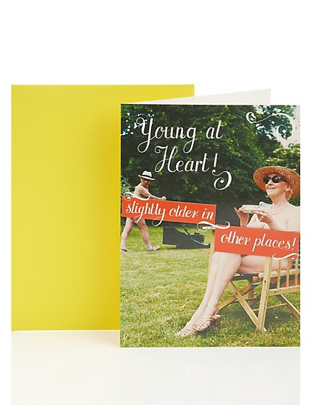 Young at Heart Retirement Greetings Card