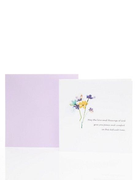 Classic Floral Sympathy Card