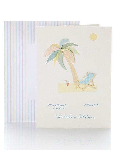 Palm Tree Retirement Card