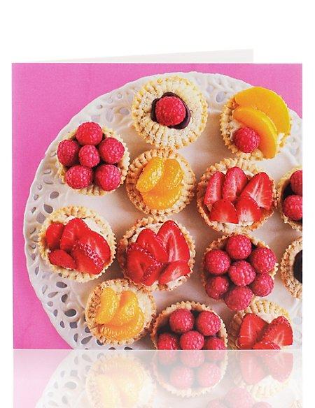 Fruit Tarts Blank Greetings Card
