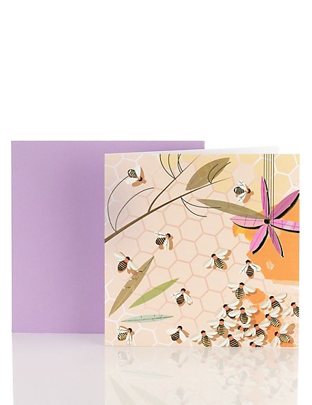 Classic Bees Blank Card