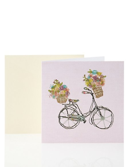 Stitched Effect Bicycle Card