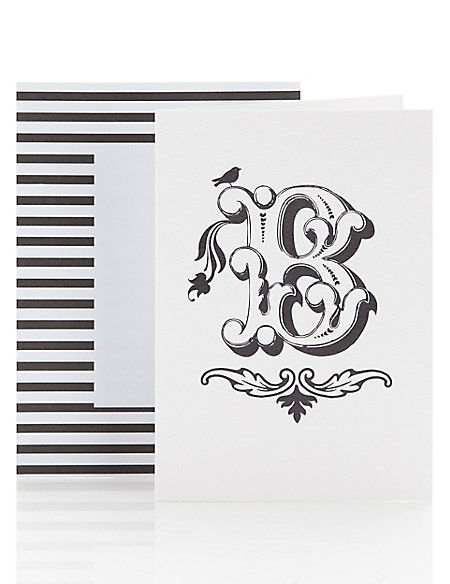 Alphabet B Greetings Blank Card
