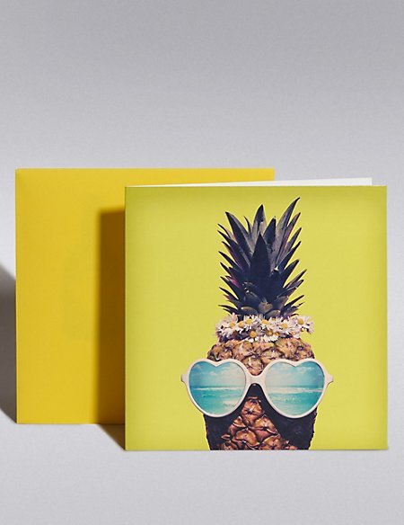 Cool Pineapple Blank Card