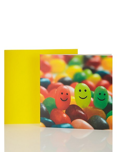 Smiling Jelly Beans Birthday Card