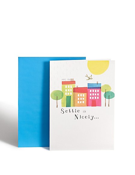 New Home Painted Houses Card