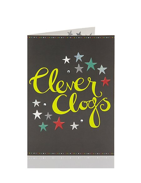 Congratulations Clever Clogs Greetings Card