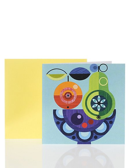Abstract Fruit Bowl Card