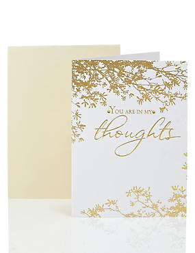 Pretty Gold Foil Sympathy Card