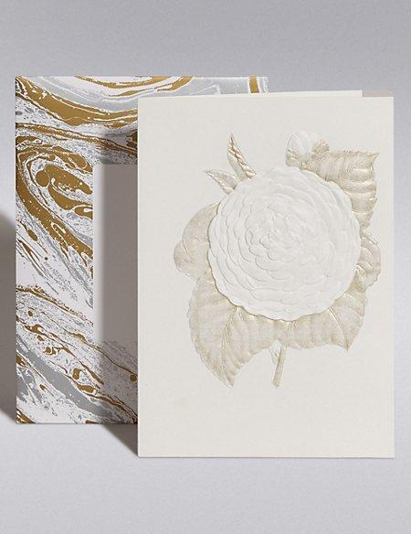 Embossed Floral Blank Card