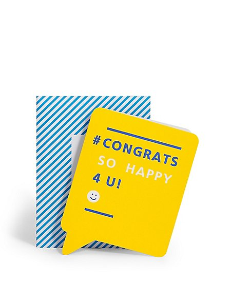 Text Message Congratulations Card