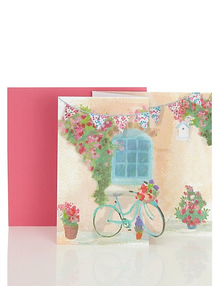 3D Bicycle Blank Card