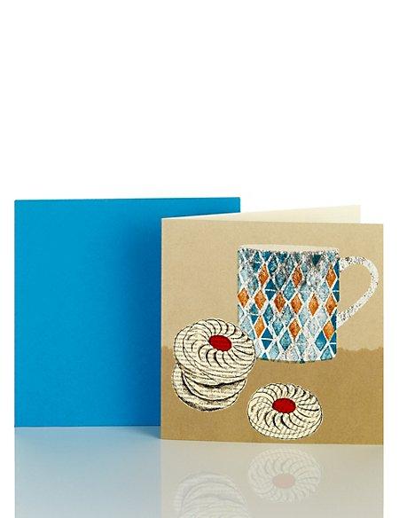 Tea & Biscuits Blank Card