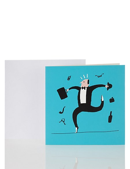 Dancing Office Man Birthday Card