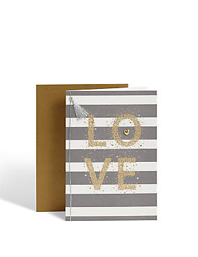 Stripy Love Anniversary Card