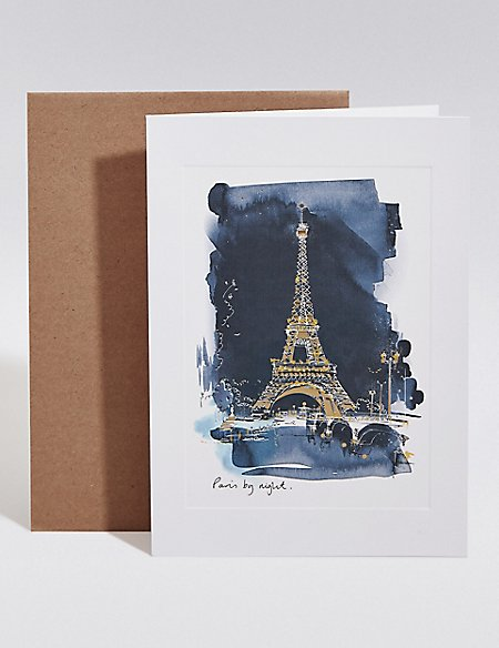 Paris by Night Blank Card