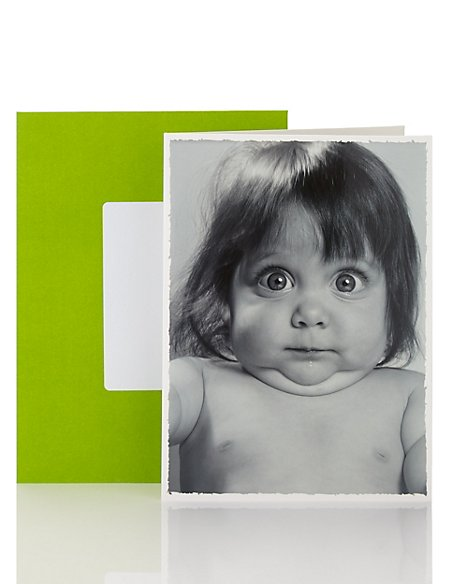 Little LAUGHS Shocked Girl Blank Card