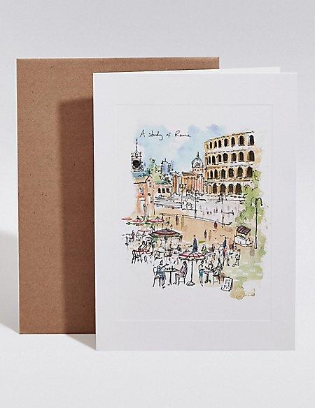 Rome Scene Blank Card