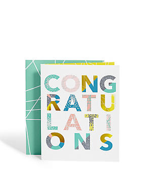 Congratulations Text Card
