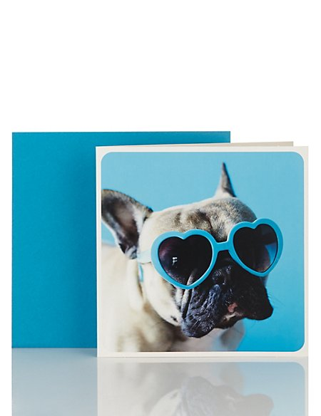 Little Laughs Dogs with Shades Blank Card