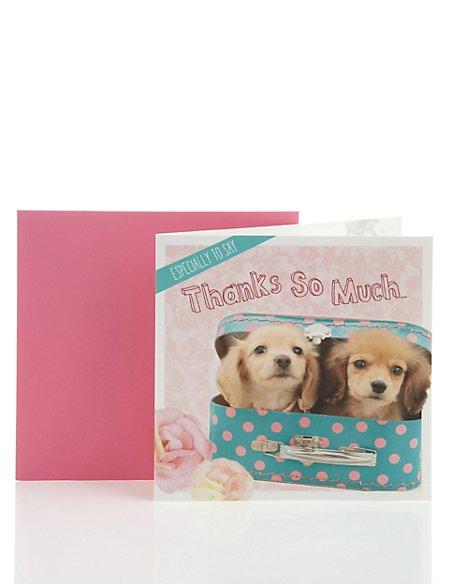 Cute Puppy Thank You Card