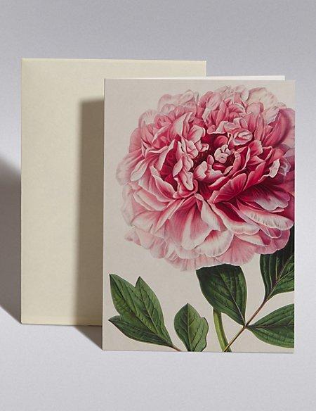 Royal Horticultural Society Pink Peony Blank Card