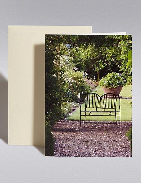Royal Horticultural Society Garden Bench Blank Card