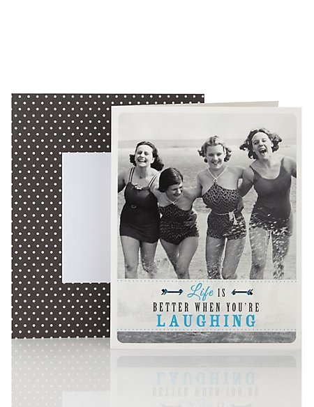 Think Happy Laughing Ladies Blank Card